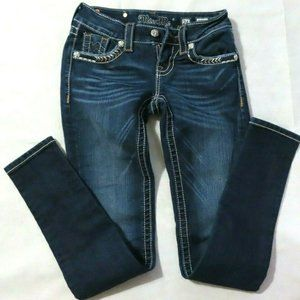 Miss Me Signature Skinny Blue Jeans Size 24 x 31